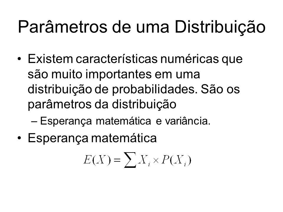 Parâmetros de uma Distribuição