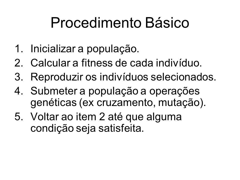 Procedimento Básico Inicializar a população.