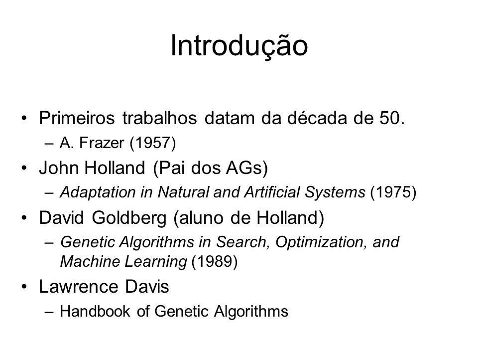 Introdução Primeiros trabalhos datam da década de 50.