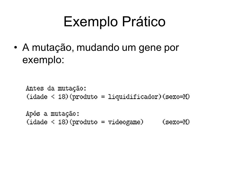 Exemplo Prático A mutação, mudando um gene por exemplo: