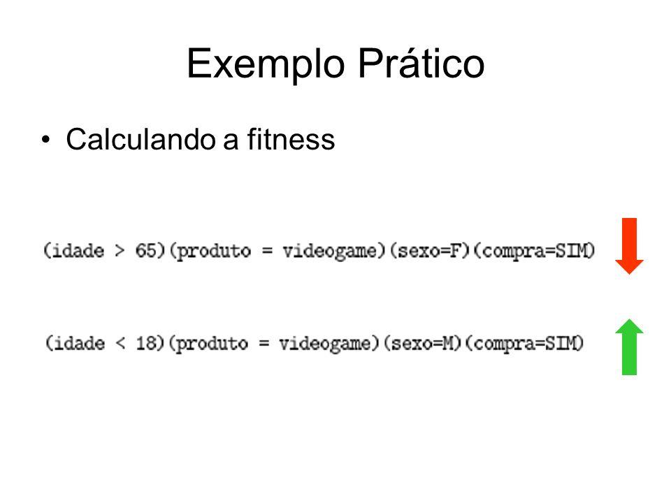 Exemplo Prático Calculando a fitness