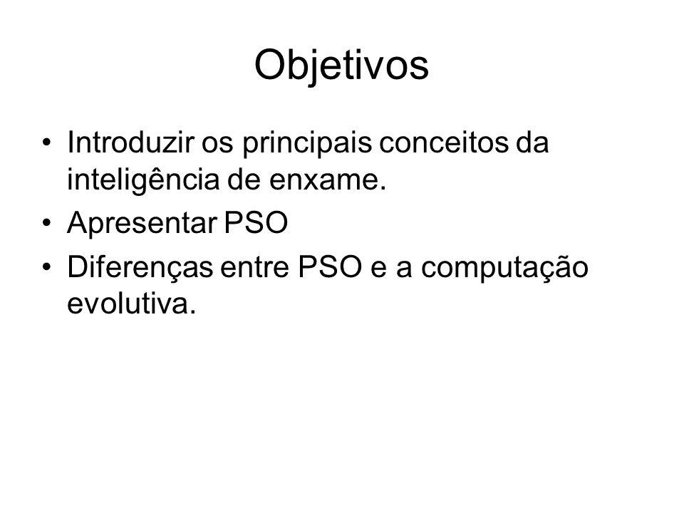 Objetivos Introduzir os principais conceitos da inteligência de enxame.