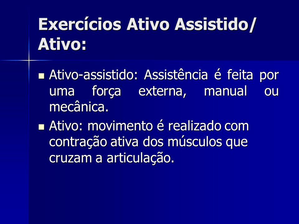 Exercícios Ativo Assistido/ Ativo: