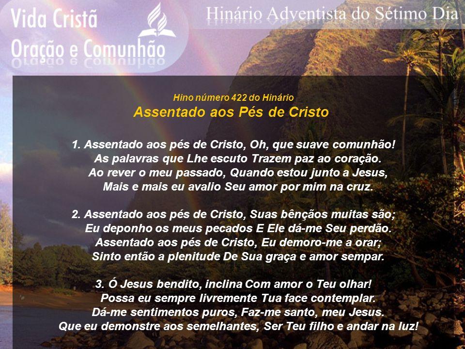 Assentado aos Pés de Cristo
