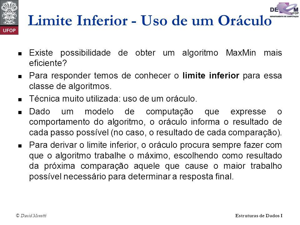 Limite Inferior - Uso de um Oráculo