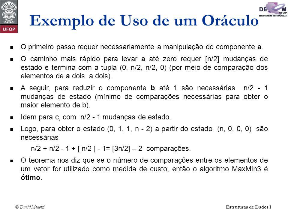 Exemplo de Uso de um Oráculo