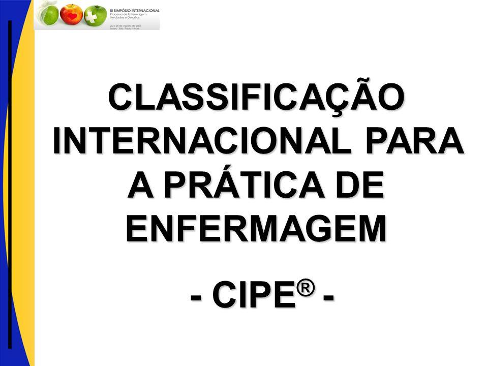CLASSIFICAÇÃO INTERNACIONAL PARA A PRÁTICA DE ENFERMAGEM