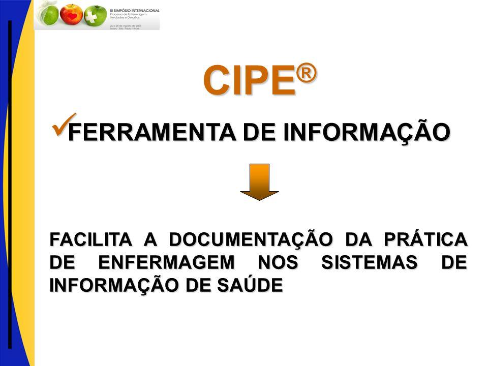 CIPE® FERRAMENTA DE INFORMAÇÃO