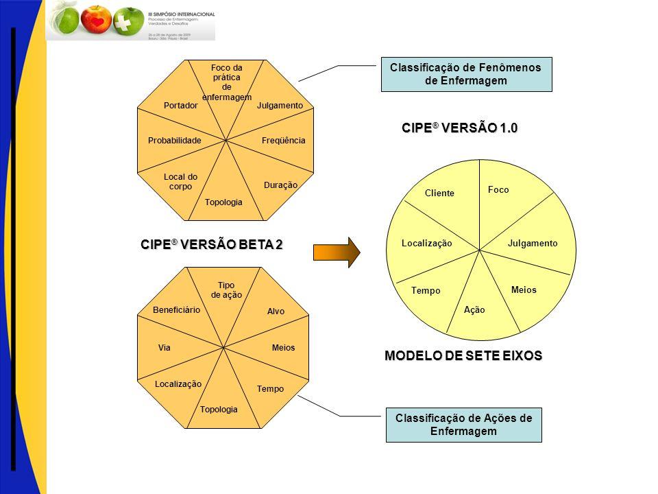 CIPE® VERSÃO 1.0 CIPE® VERSÃO BETA 2 MODELO DE SETE EIXOS