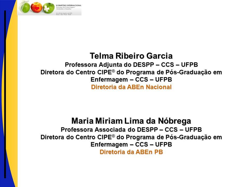 Telma Ribeiro Garcia Maria Miriam Lima da Nóbrega