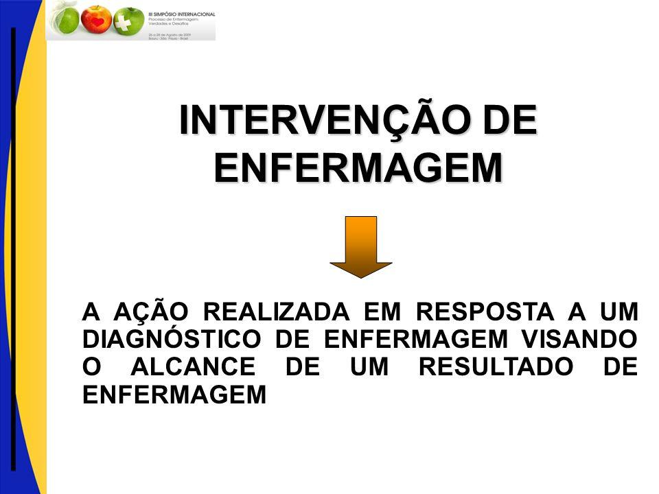 INTERVENÇÃO DE ENFERMAGEM