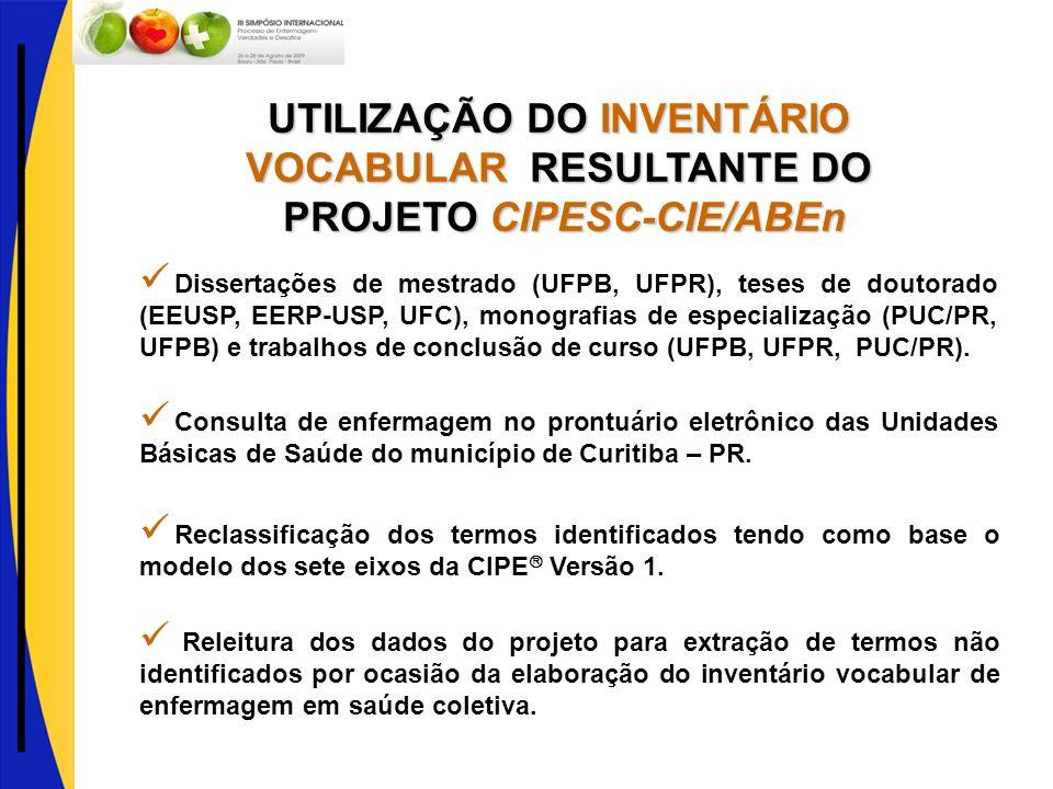 UTILIZAÇÃO DO INVENTÁRIO VOCABULAR RESULTANTE DO
