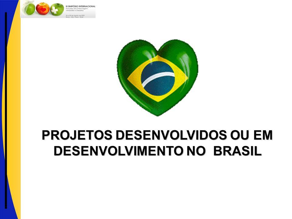 PROJETOS DESENVOLVIDOS OU EM DESENVOLVIMENTO NO BRASIL