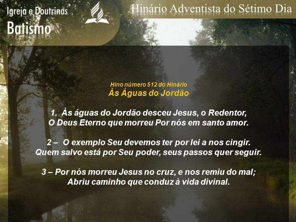 Às águas do Jordão desceu Jesus, o Redentor,