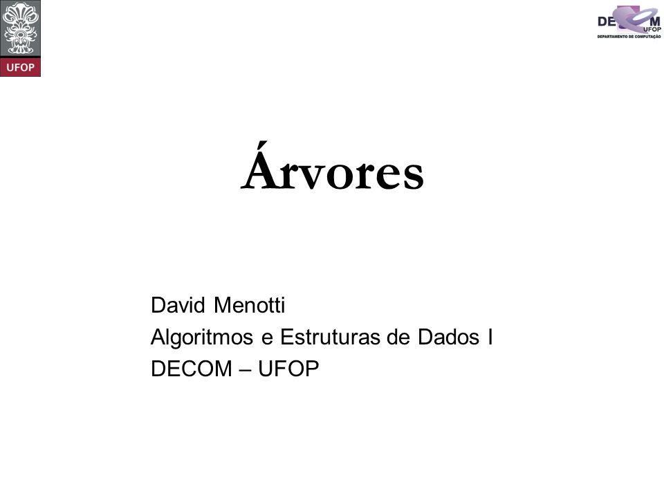 David Menotti Algoritmos e Estruturas de Dados I DECOM – UFOP