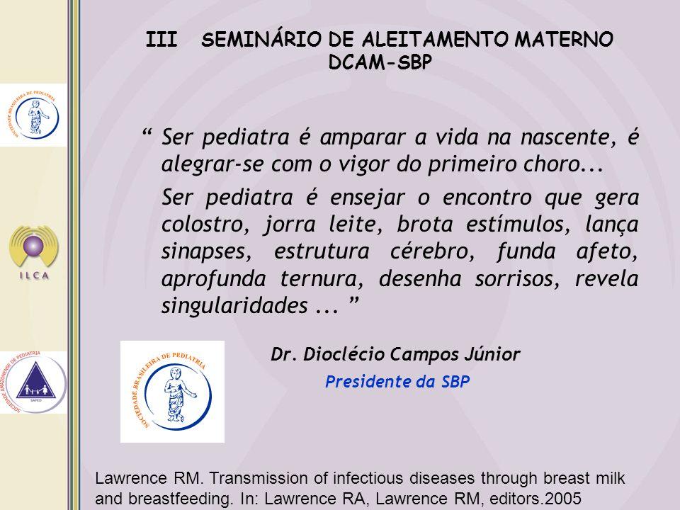 III SEMINÁRIO DE ALEITAMENTO MATERNO DCAM-SBP