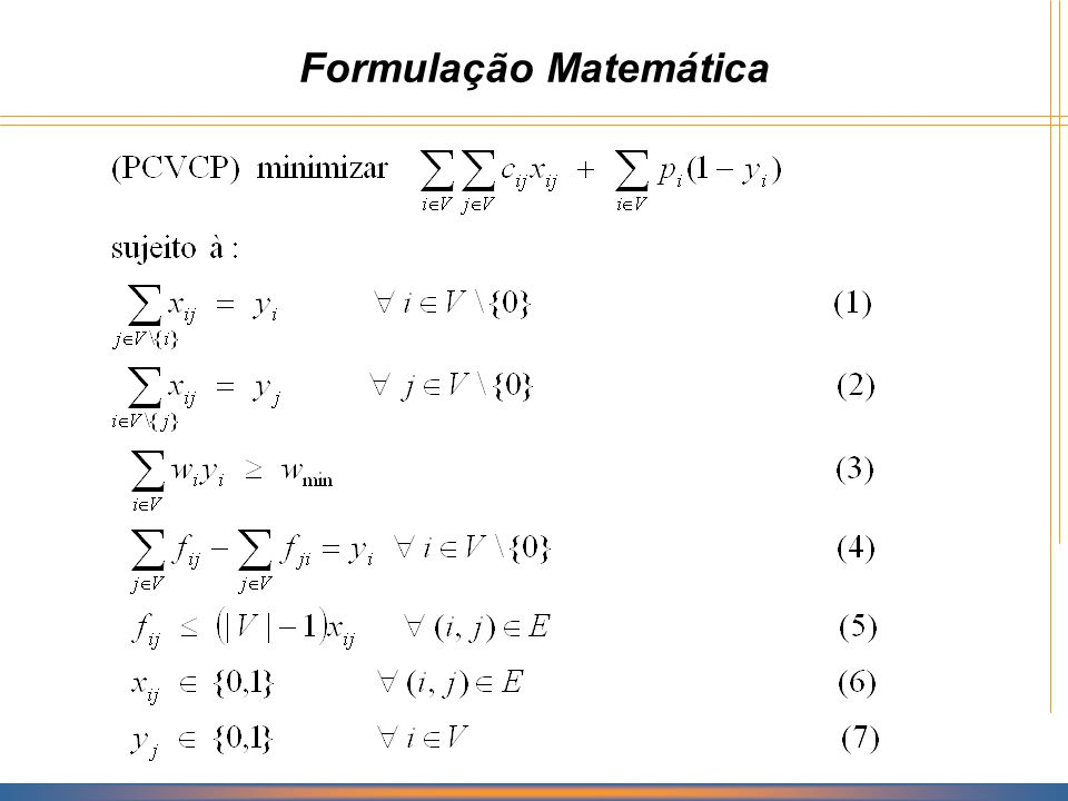 Formulação Matemática