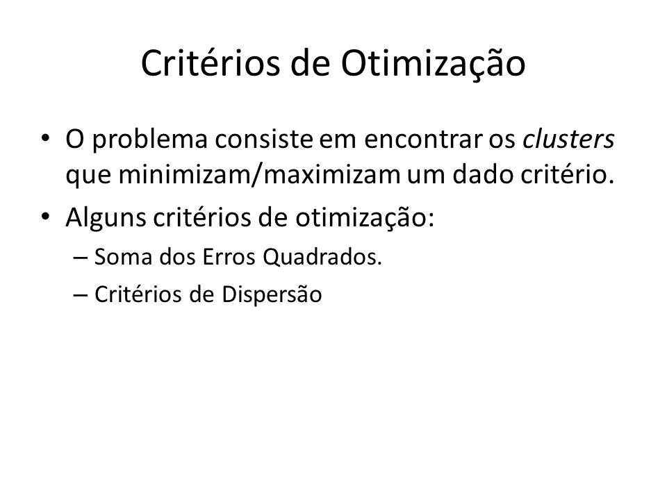 Critérios de Otimização