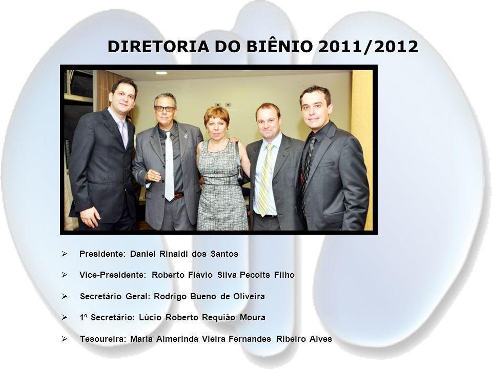 DIRETORIA DO BIÊNIO 2011/2012 Presidente: Daniel Rinaldi dos Santos