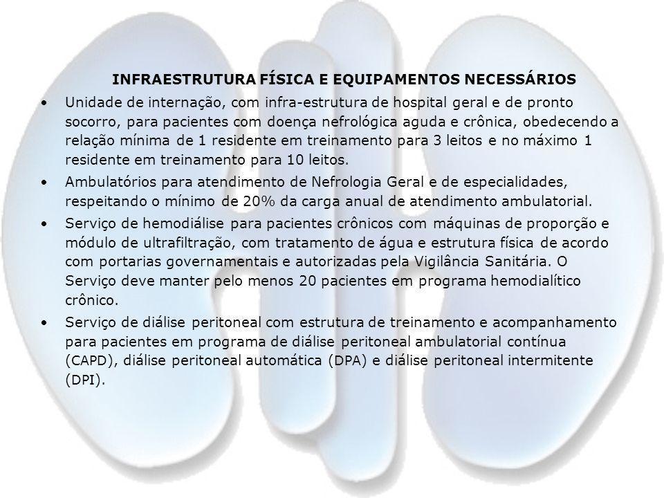 INFRAESTRUTURA FÍSICA E EQUIPAMENTOS NECESSÁRIOS