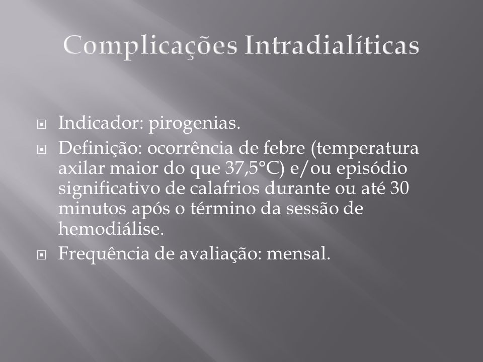 Complicações Intradialíticas