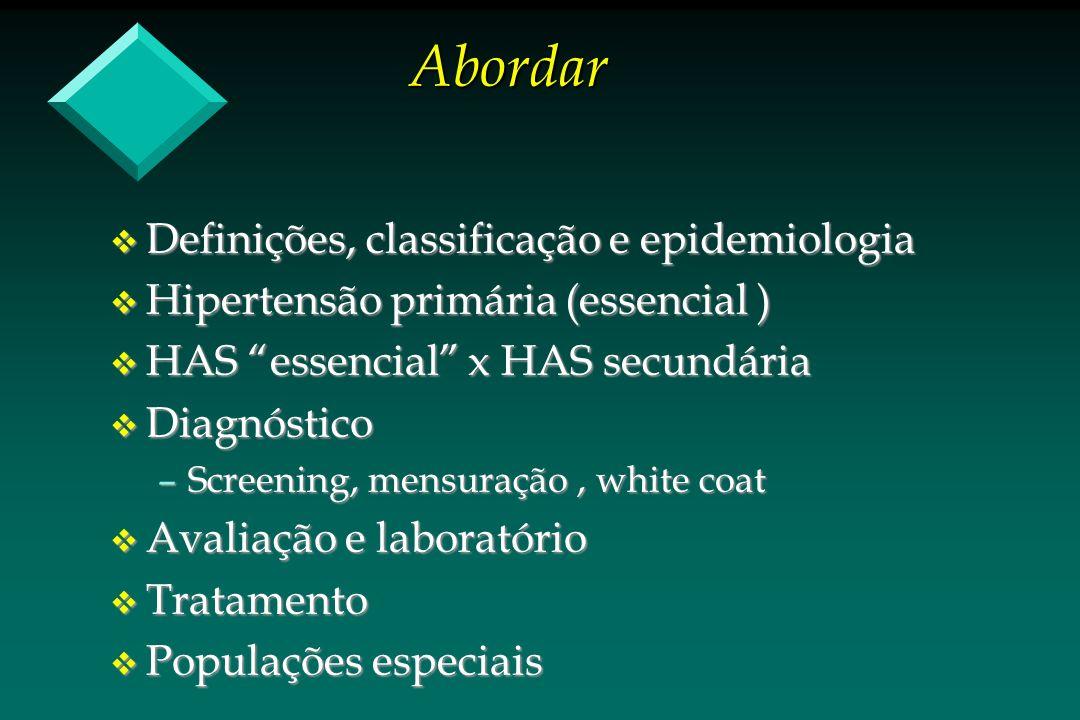Abordar Definições, classificação e epidemiologia