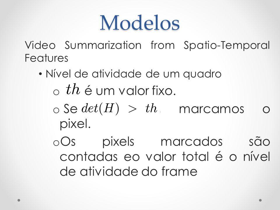 Modelos é um valor fixo. Se contecer, marcamos o pixel.