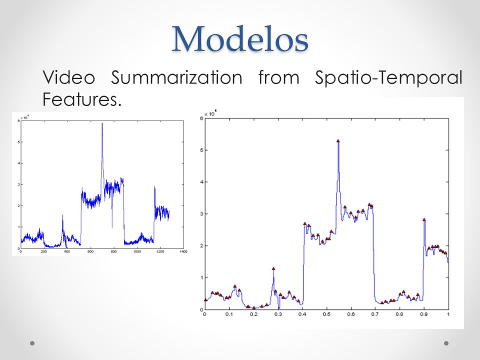 Modelos Video Summarization from Spatio-Temporal Features.