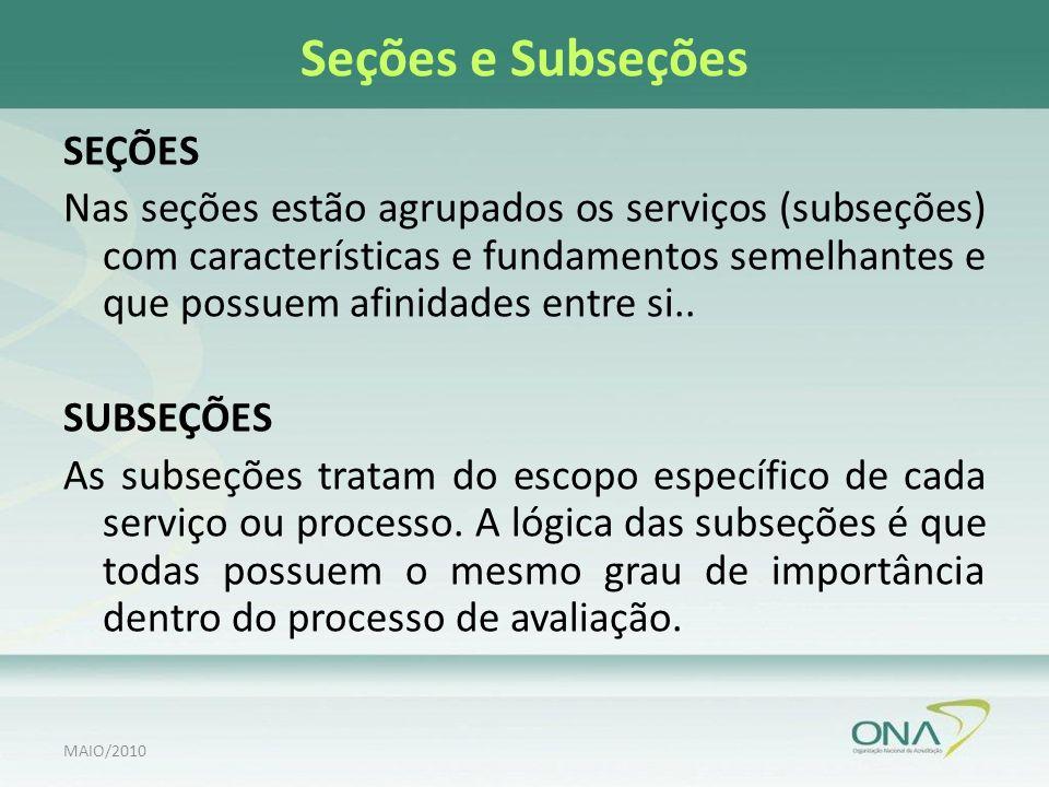 Seções e Subseções