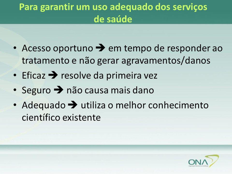 Para garantir um uso adequado dos serviços de saúde