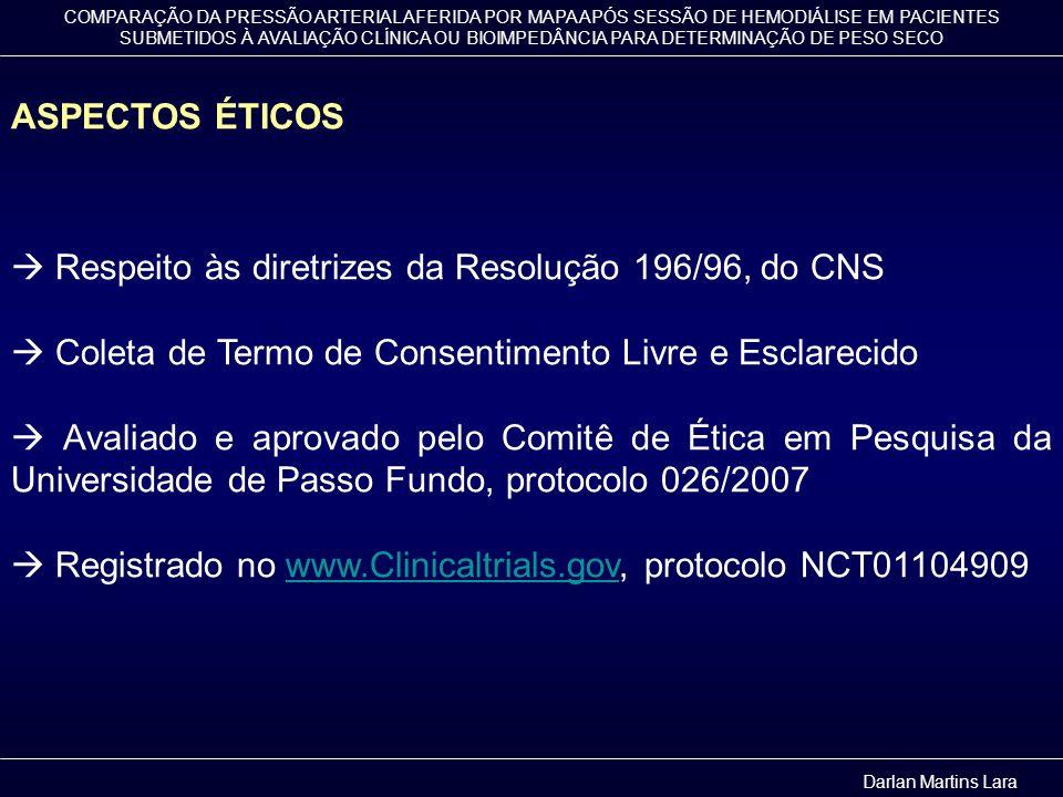  Respeito às diretrizes da Resolução 196/96, do CNS