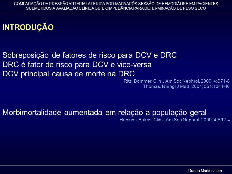 Sobreposição de fatores de risco para DCV e DRC