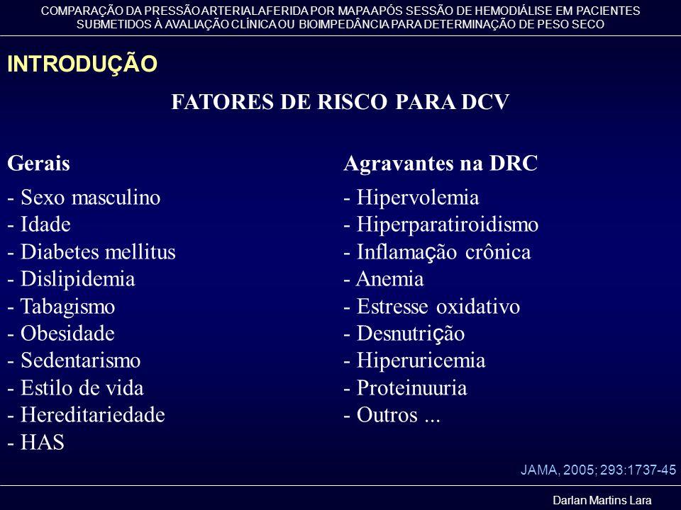 FATORES DE RISCO PARA DCV