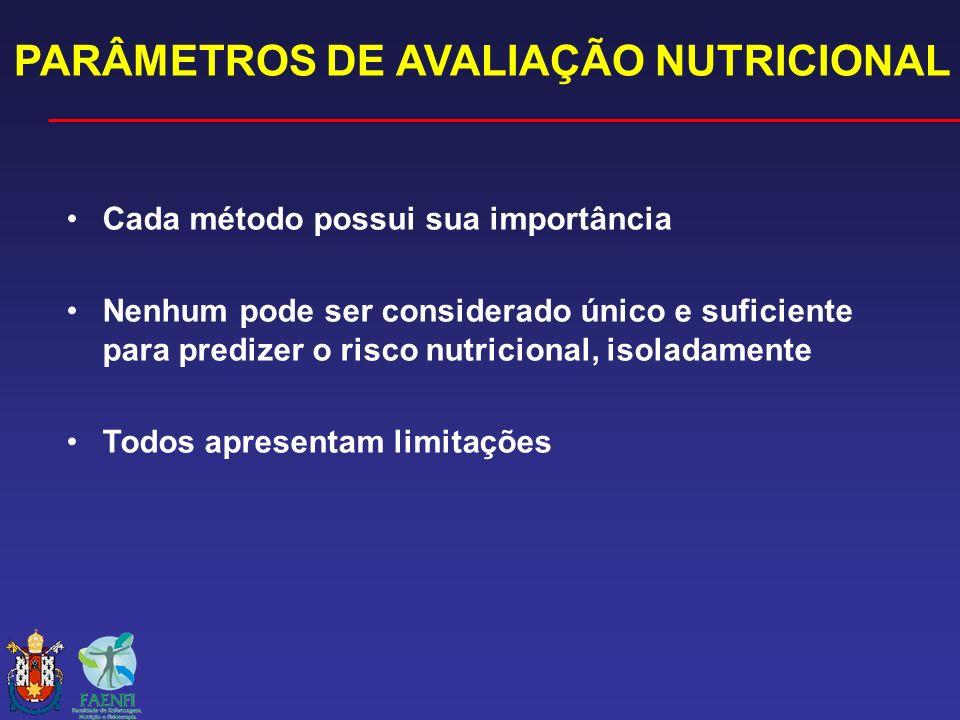 PARÂMETROS DE AVALIAÇÃO NUTRICIONAL