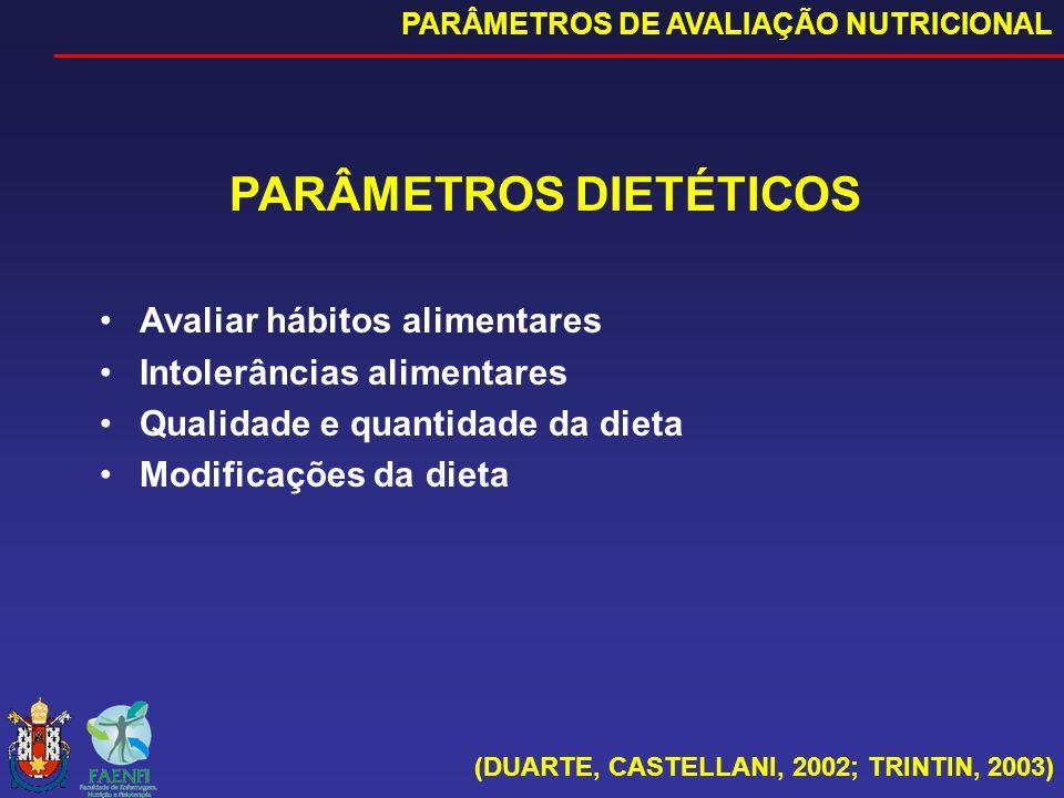 PARÂMETROS DIETÉTICOS