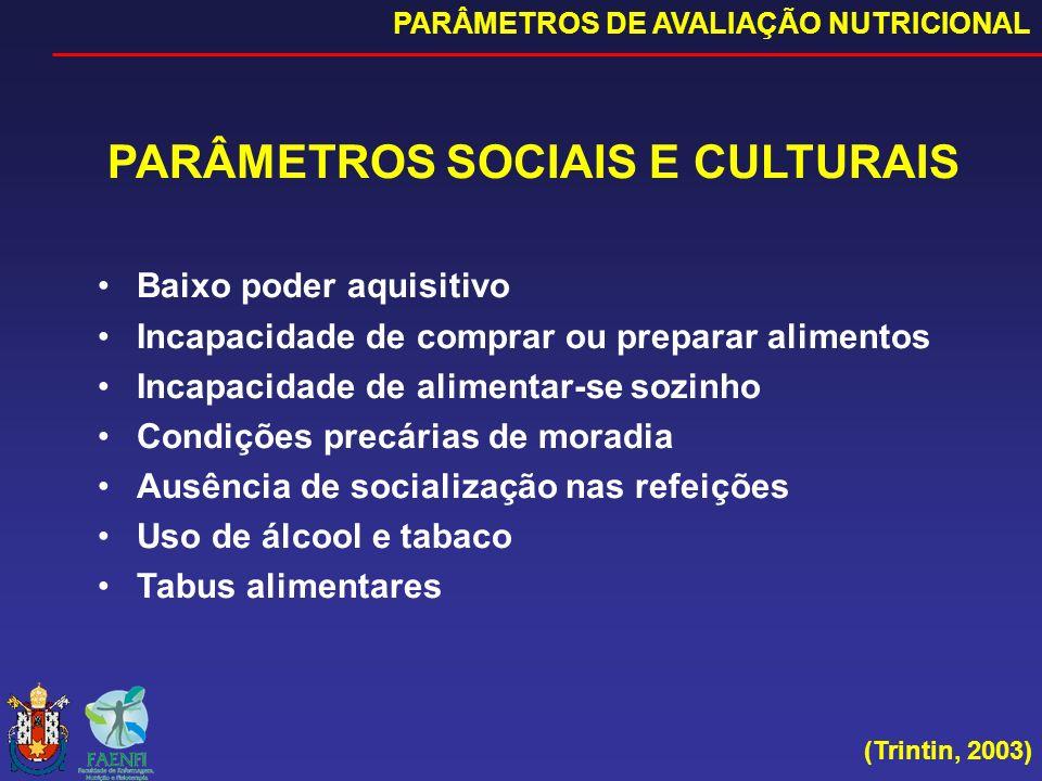 PARÂMETROS SOCIAIS E CULTURAIS