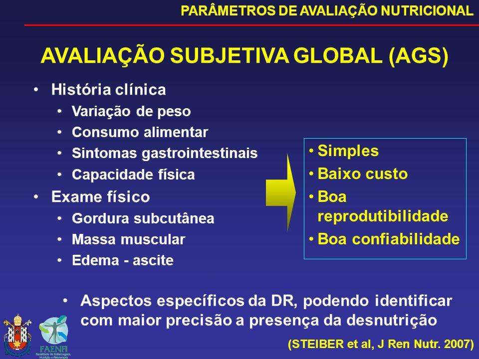 AVALIAÇÃO SUBJETIVA GLOBAL (AGS)
