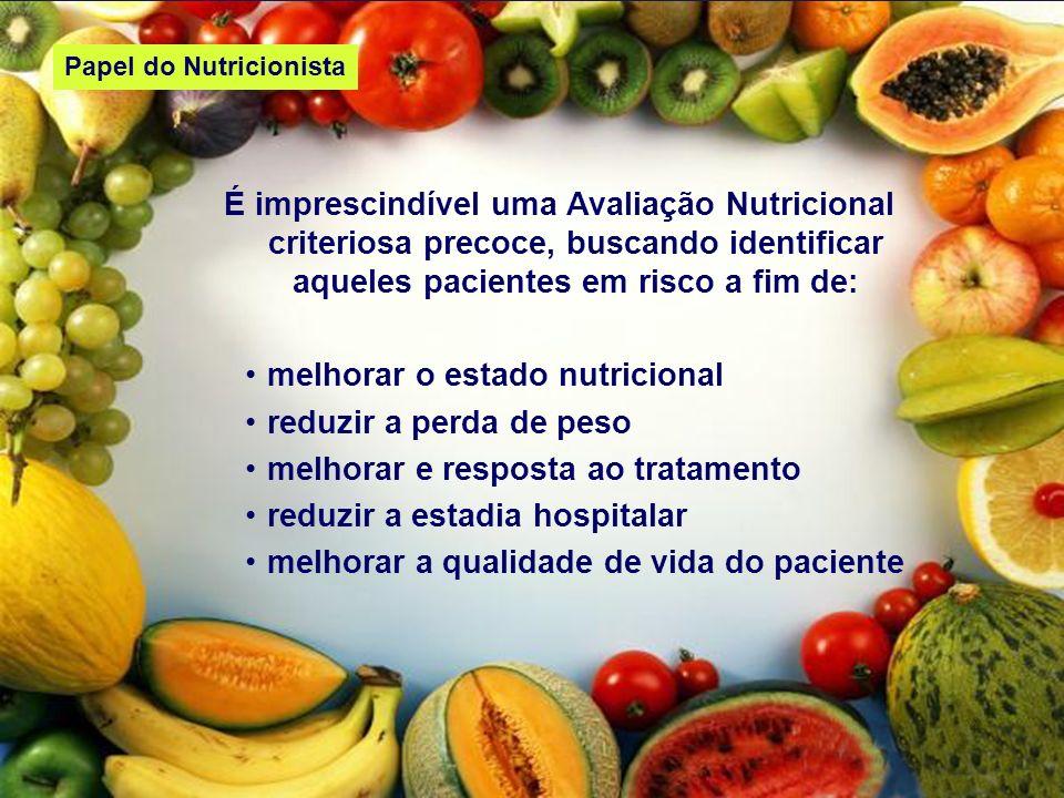 melhorar o estado nutricional reduzir a perda de peso