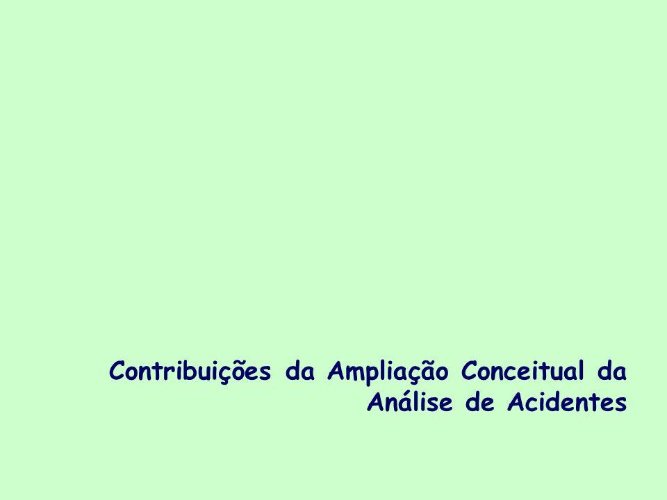 Contribuições da Ampliação Conceitual da Análise de Acidentes