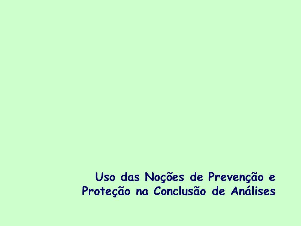 Uso das Noções de Prevenção e Proteção na Conclusão de Análises