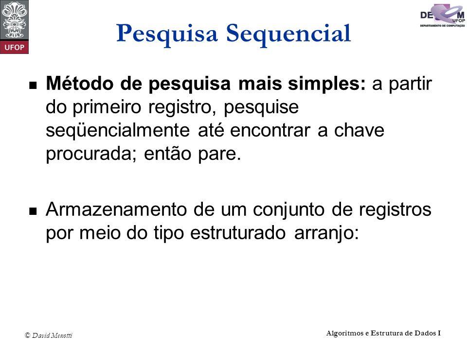 Pesquisa Sequencial