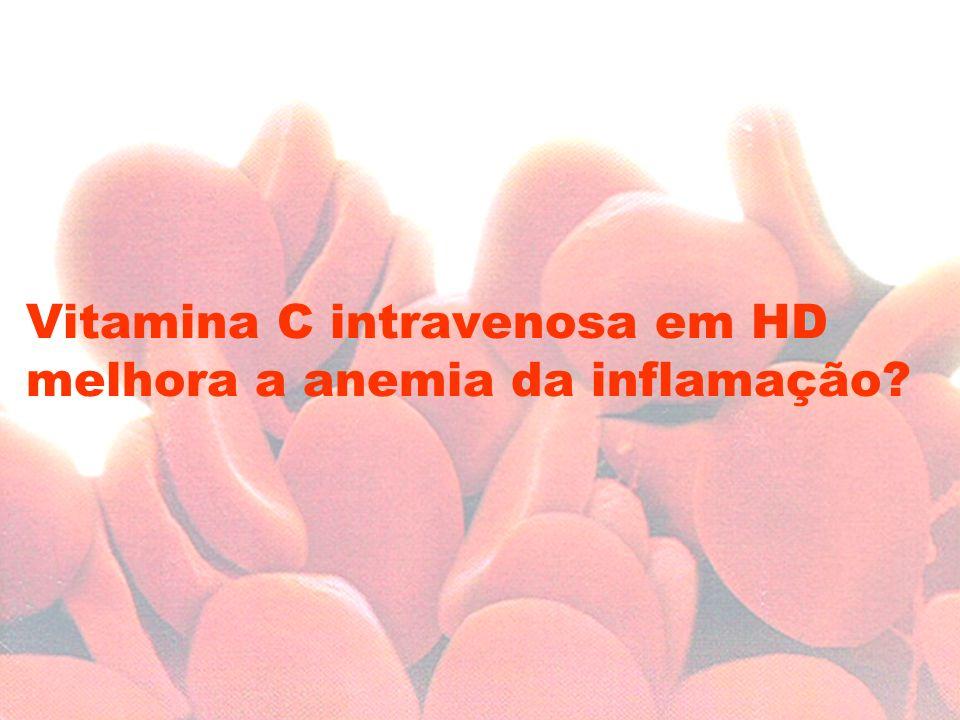 Vitamina C intravenosa em HD melhora a anemia da inflamação