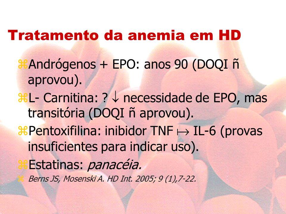 Tratamento da anemia em HD