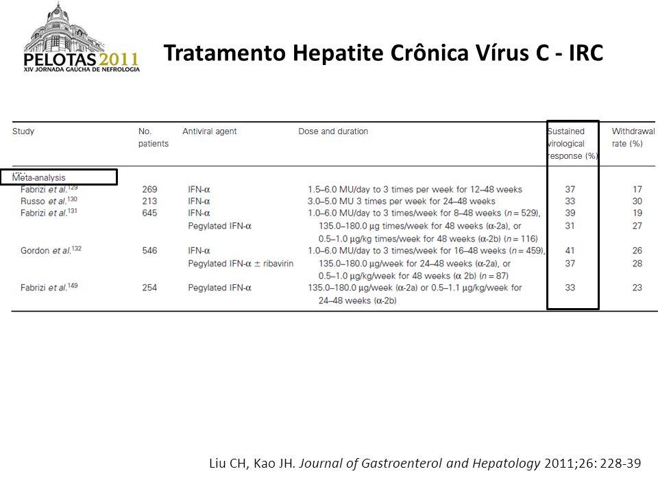 Tratamento Hepatite Crônica Vírus C - IRC