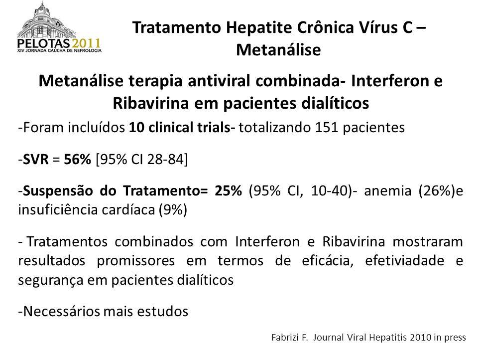 Tratamento Hepatite Crônica Vírus C – Metanálise