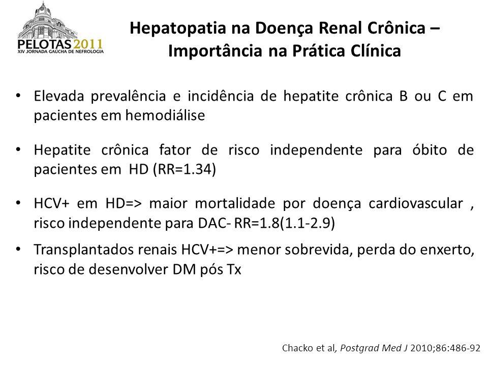 Hepatopatia na Doença Renal Crônica – Importância na Prática Clínica