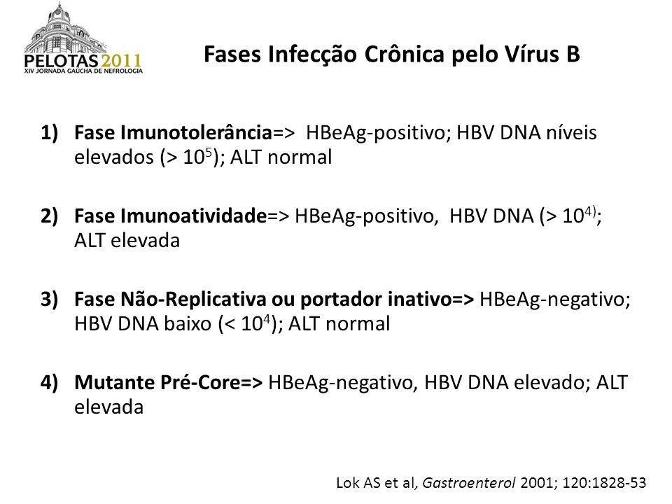 Fases Infecção Crônica pelo Vírus B