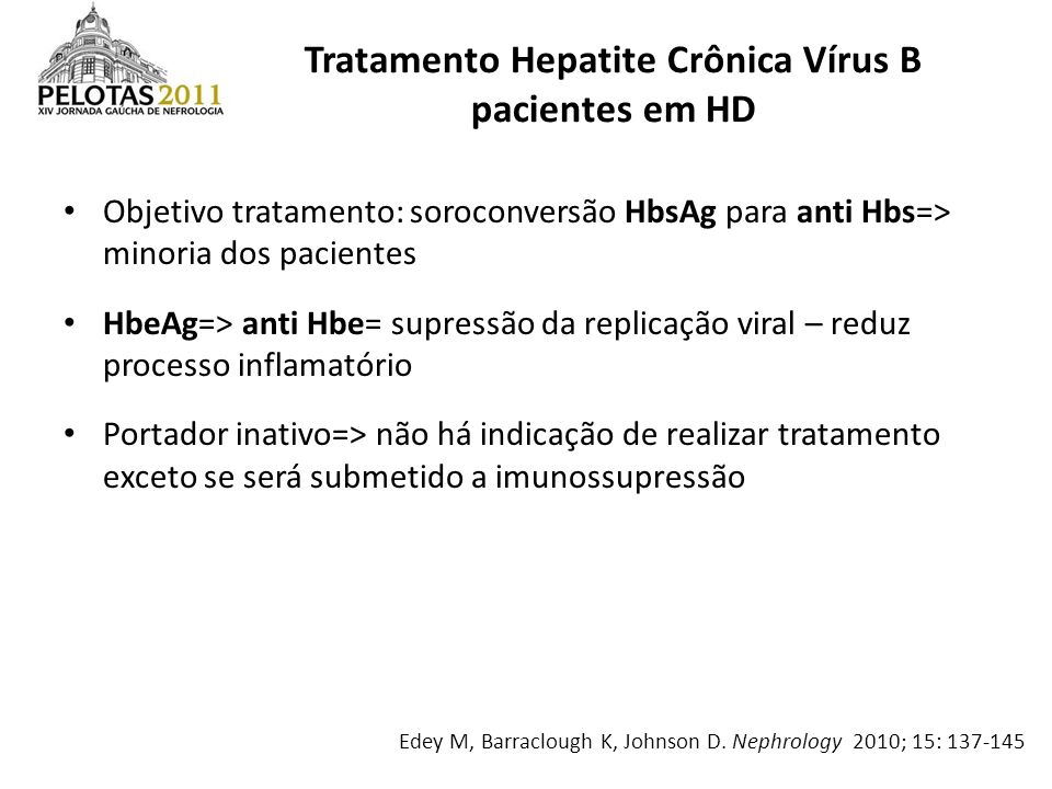 Tratamento Hepatite Crônica Vírus B pacientes em HD
