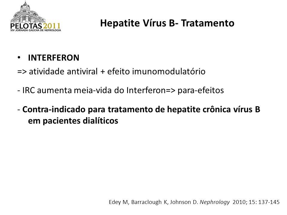 Hepatite Vírus B- Tratamento