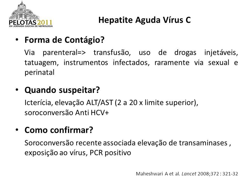 Hepatite Aguda Vírus C Forma de Contágio Quando suspeitar